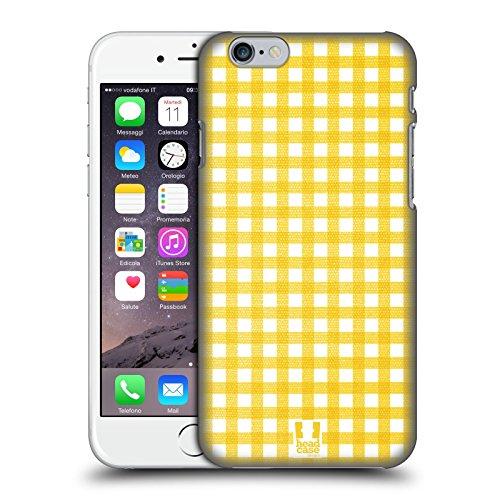 Head Case Designs Giallo Pattern Gingham Cover Retro Rigida per Apple iPhone 7 Plus / 8 Plus Giallo