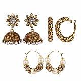 Efulgenz Combo of 3 Trendy Earrings for ...