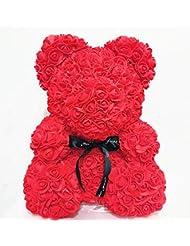 KeavyLee Party Festival Geschenke Rosenbär ewige Blume senden Freundin Freund Geschenk (rot)