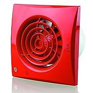 Blauberg UK 100Silenzioso V Rosso 100mm Ventola con cordino, colore: rosso