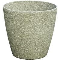Pietra Luce Serie SL 22 centimetri Fusioni pietra rotonda Planter - Calcare (confezione da 6)