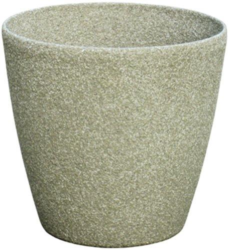 Pietra Luce Serie SL 28 centimetri Fusioni pietra rotonda Planter - Calcare (confezione da 6)