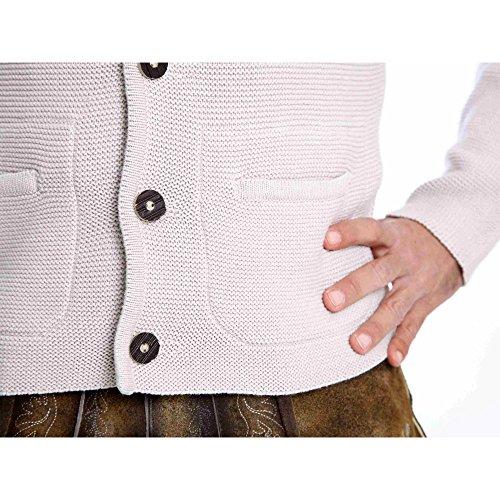 ALMBOCK Herren Strickjacke | Cardigan für Männer in natur grau | Trachten Strickjacke | Größen S, M, L, XL, XXL, XXXL - 3