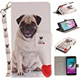 Ooboom® Samsung Galaxy A3 2016 Coque Faux Cuir Flip Housse Étui Cover Case Wallet Pochette Supporter Porte-Cartes de Crédit pour Samsung Galaxy A3 2016 - Chien