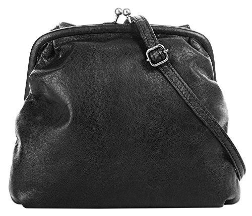 X-ZONE Handtasche Echt Leder schwarz Damen - 019497 -