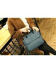 X&L Vintage moda bolso simple bolso de las mujeres bandolera , blue