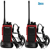 3 x Baofeng BF-888S UHF 400-470 MHz CTCSS / DCS Alta Iluminación Linterna con Auricular de mano Amateur Radio Walkie Talkie Negro