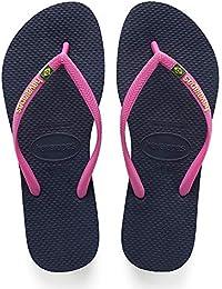 c47974cdcd40 Amazon.co.uk  Blue - Flip Flops   Thongs   Women s Shoes  Shoes   Bags
