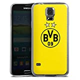DeinDesign Slim Case Silikon Hülle Ultra Dünn Schutzhülle kompatibel mit Samsung Galaxy S5 Neo BVB Borussia Dortmund Sterne