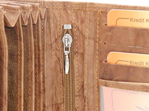 RabamtaGO Collection® , Portafogli  mittel-Braun Maße ca. 17 x 10 x 4 cm mittel-Chianti Rust
