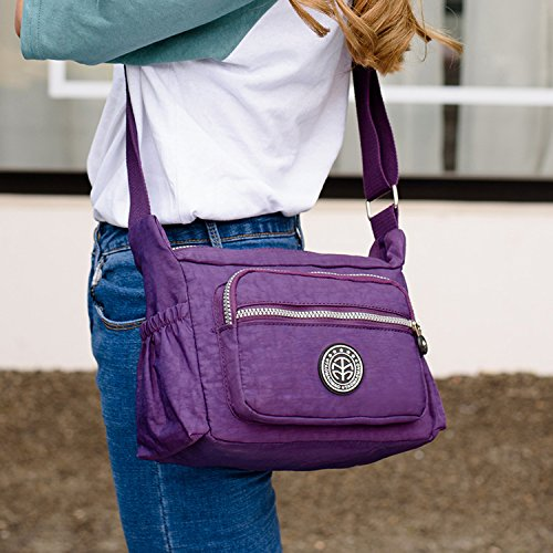 Outreo Umhängetasche Leichter Schultertasche Wasserdicht Taschen Damen Kuriertasche Mode Strandtasche Designer Messenger Bag Sporttasche Blau 1