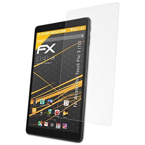 atFolix Panzerfolie kompatibel mit Alcatel One Touch Pixi 3 (10) Schutzfolie, entspiegelnde & stoßdämpfende FX Folie (2X)