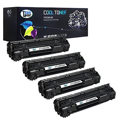 4 Pack XL Cool Toner kompatibel CB436A 36A Schwarz Toner für HP...