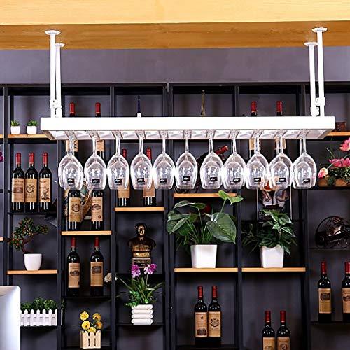 DUDDP Weinflaschenhalter Weinregal Weinglas Kleiderbügel hängen Becher Rack, kreative Weinglas Halter Kunst Weingläser Rack Stemware Halter Weinregal (weiß) (Size : 100 * 35CM) Stemware Fall