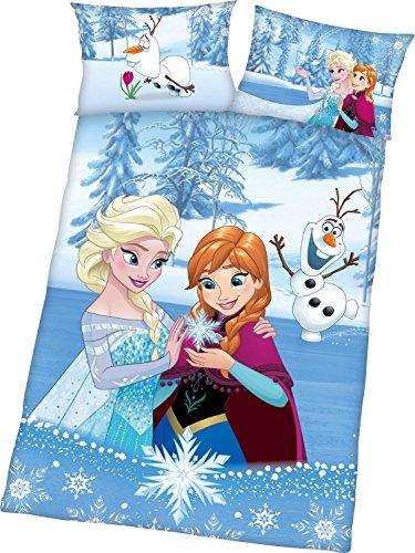Herding Bettwäsche-Set Disney's Die Eiskönigin, Baumwolle, Mehrfarbig, 135 x 100 cm