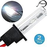 Mihaz Super Bright 12V 35W H3 Xénon HID Ampoules 6000K Pack de 2 phares Front Fog Kit de conversion des ampoules de rechange (2pcs 35W H3 ampoules)
