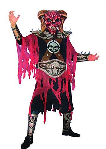 Karnevals-Kostüm Set Zombie Teufel, One Size, Mehrfarbig (Teufel Kostüm Frisuren)