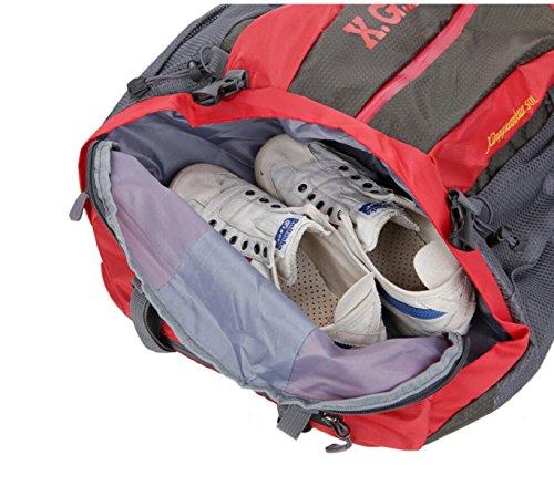 Großvolumige Outdoor-Sport Und Freizeit Bergsteigen Tasche Wasserdicht Schulter,Orange Red