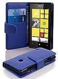 Cadorabo Hülle für Nokia Lumia 520 - Hülle in KÖNIGS BLAU – Handyhülle mit Kartenfach aus struktriertem Kunstleder - Case Cover Schutzhülle Etui Tasche Book Klapp Style