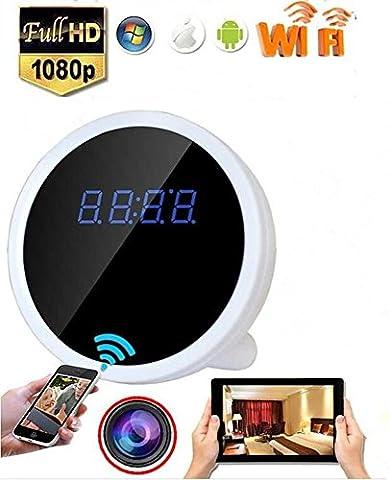 Electro-Weideworld - 1080P P2P Wifi IP Caméra Espion Réveil Horloge Cachée Video Enregistreur Soutien iPhone Android APP Vue à