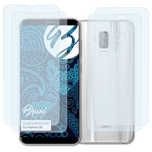 Bruni Schutzfolie kompatibel mit Homtom S8 Folie, glasklare Bildschirmschutzfolie (2er Set)