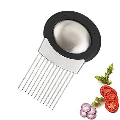 Zwiebelhalter, Zwiebel Schneide Cutter Gemüseschneider mit Edelstahl Seife Geruch Entferner