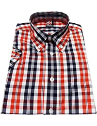 Warrior Ferdy Short Sleeved Vintage Gingham Retro Mod Button Down shirts
