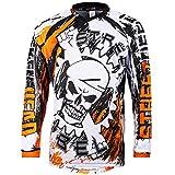 Broken Head MX Jersey Street Rebel Orange - Langarm Funktions-Shirt Für Moto-Cross, BMX, Mountain...