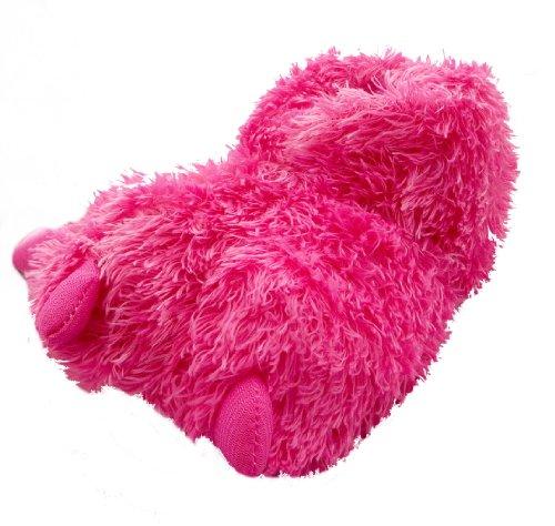 Girl Monster Feet Pelzhausschuhe 2 Farben zur Auswahl, Größe 9-3 erhältlich Pink