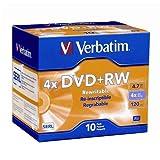 Verbatim Branded 4X DVD+RW Media 20 Pack in Jewel Case (94839)