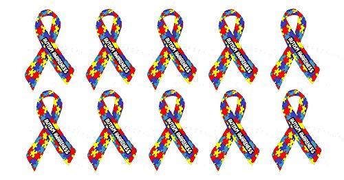 CELYCASY Autismus Awareness Puzzle Band Auto Fenster Stoßstangen-Aufkleber Aufkleber Aufkleber Sticker Pack von 25,5-5,1 cm (Puzzle-stück Band)