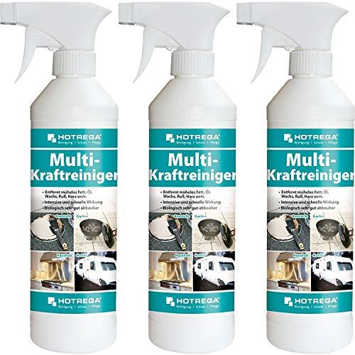 3 x HOTREGA Multi-Kraftreiniger 500ml Sprühflasche