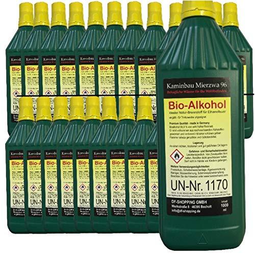 24 Litres de Haute-Performance Bio-éthanol en Bouteilles de 1 Litre