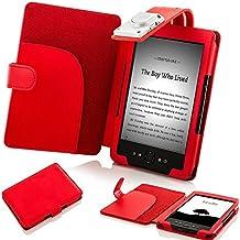 Forefront Cases - Funda con luz LED para Kindle 4 (piel sintética), color azul
