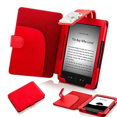 Forefront Cases - Funda luz LED Kindle 4 Piel sintética