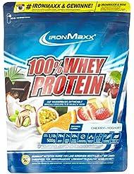 IronMaxx 100% Whey Protein / Whey Eiweißpulver auf Wasserbasis / Proteinshake mit Kirsche-Joghurt Geschmack / 1 x 500 g Beutel