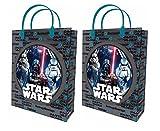 2x Star Wars Tasche Handtasche Umschlag Geschenk aus Kunststoff transparent L 32x 26cm Gift Bag