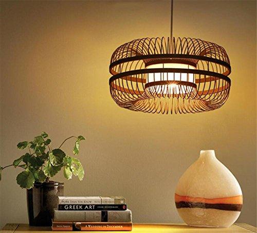 LUCKY CLOVER-A Estilo chino clásico madera mimbre hecho a mano del enrejado Lámpara de techo de bambú de ratán Pantalla de luz colgante Presentes estreno de una casa