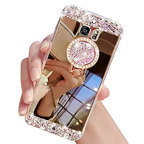 Sunroyal Rhinestone Coque pour Samsung Galaxy S7 Edge Diamant Bling