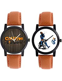 A R Sales Combo Of 2 Analog Watch For Mens And Boys - B078Y47DNG