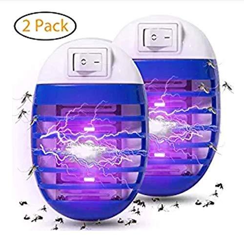 Binwwe Mückenschutz Steckdose LED Insektenvernichter mit UV-Licht, für Schlafzimmer im Innenbereich Baby Room Kitchen Office,Zufällige Farbe (2er Pack)