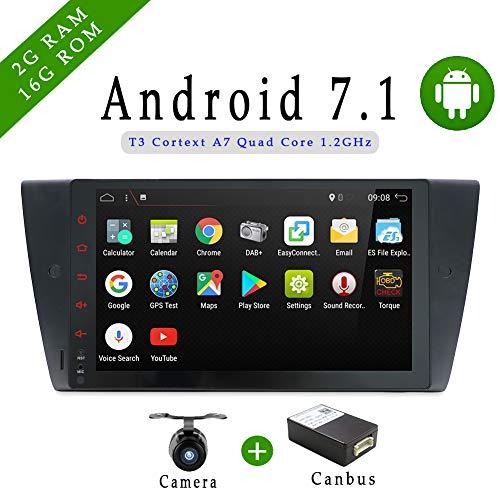 Android 7.1 Quad Core 22,9 cm 1024 * 600 Lecteur DVD de Voiture GPS WiFi Modèle pour BMW E46 Support Miroir Link/OBD/Dab/FM/AM/USB/Bluetooth/Miroir Lien avec CANBUS Non Fonction DVD/CD
