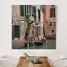 Bilderwelten Cuadro en lienzo - Parking Venice - Cuadrado 1:1, cuadros cuadro lienzo cuadro de lienzo cuadro sobre lienzo cuadro moderno cuadro decoracion, Tamaño: 40 x 40cm
