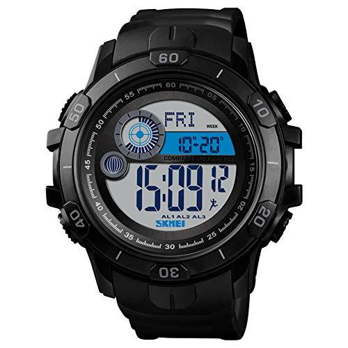LGPNB Sport Uhr Mode Kompass Elektronische Uhr Stufenzähler Studenten Männer Wasserdicht Outdoor Uhr