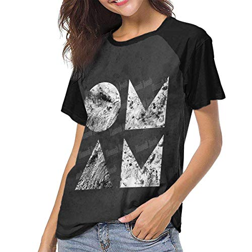 Bagew Damen T-Shirt Mit Rundhalsausschnitt, of Monsters and Men Beneath The Skin Womens Short Sleeve Raglan Baseball Tshirts Black