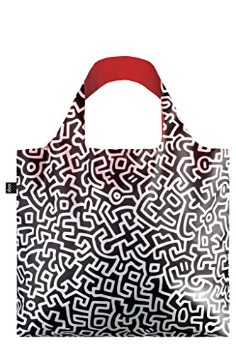 LOQI Museum Keith Haring Untitled Bag Strandtasche, 50 cm, 20 liters, Mehrfarbig (Multicolour)