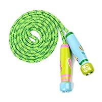 OFKPO Adjustable Skipping Rope Child Skipping Rope With Wooden Cartoon Printing Handle Exercise Jumping For Children
