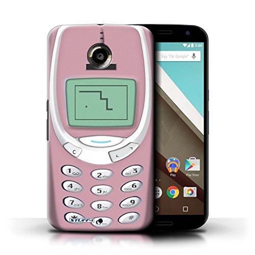 Kobalt® Imprimé Etui / Coque pour Motorola Nexus 6 / Nokia 8210 bleu conception / Série Portables rétro Nokia 3310 rose