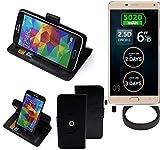 K-S-Trade® Hülle Schutzhülle Case Für -Allview P8 Energy Pro- + Bumper Handyhülle Flipcase Smartphone Cover Handy Schutz Tasche Walletcase Schwarz (1x)