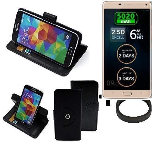 K-S-Trade® Hülle Schutzhülle Case für Allview P8 Energy Pro + Bumper Handyhülle Flipcase Smartphone Cover Handy Schutz Tasche Walletcase schwarz (1x)
